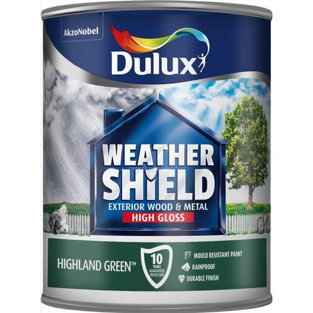 Dulux Weathershield Exterior Wood Paint, Metal Paint Green 0.75L