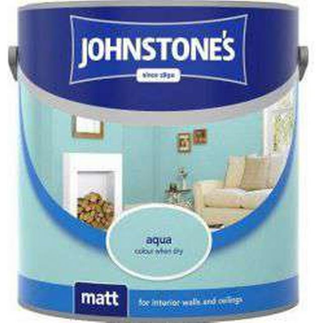 Johnstones Matt Wall Paint, Ceiling Paint Blue 2.5L