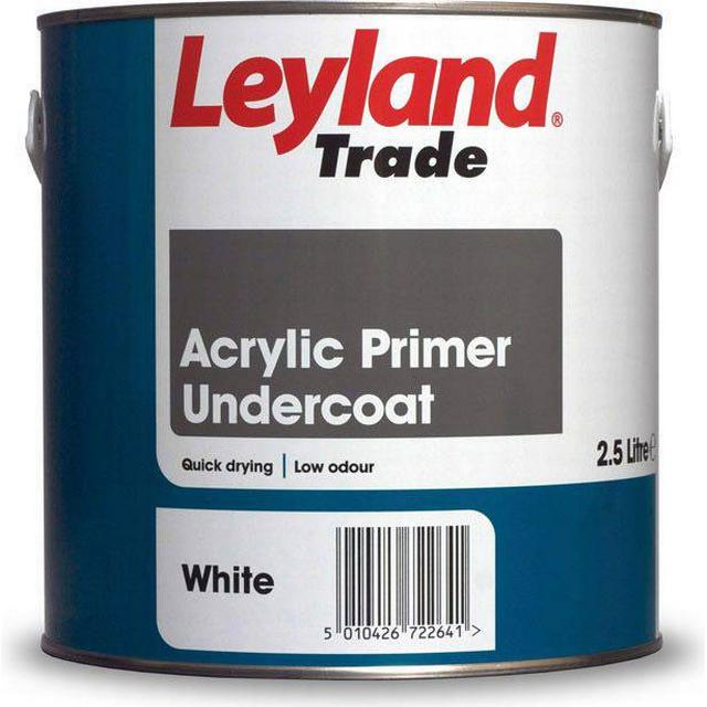 Leyland Trade Acrylic Primer Undercoat Wood Paint White 2.5L