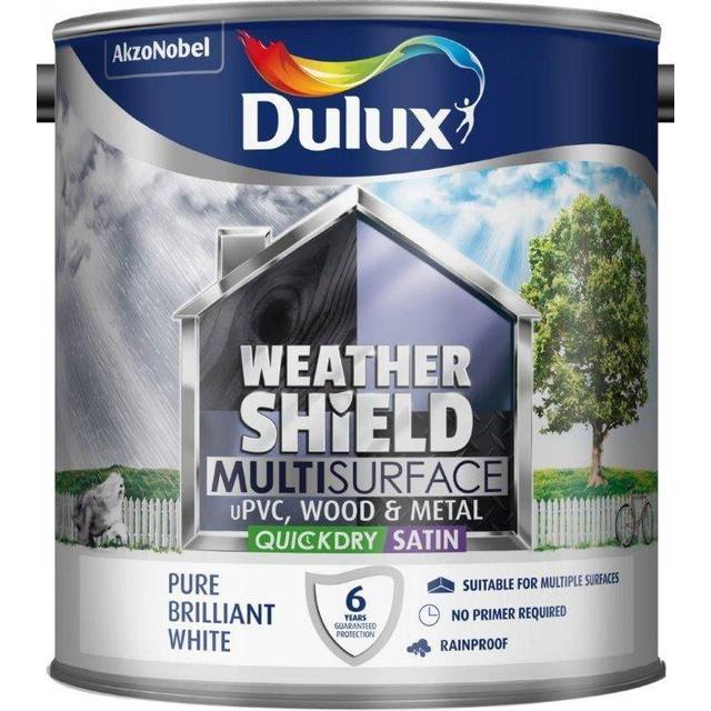 Dulux Weathershield Multisurface Wood Paint, Metal Paint White 0.75L