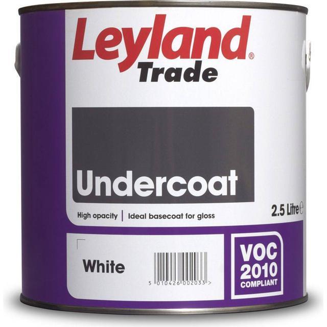 Leyland Trade Undercoat Wood Paint, Metal Paint White 2.5L