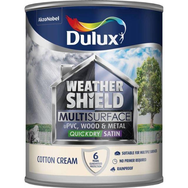 Dulux Weathershield Multisurface Wood Paint, Metal Paint Beige 0.75L