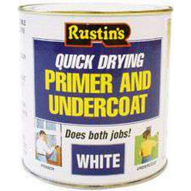 Rustins Quick Dry Primer & Undercoat Wood Paint Grey 1L