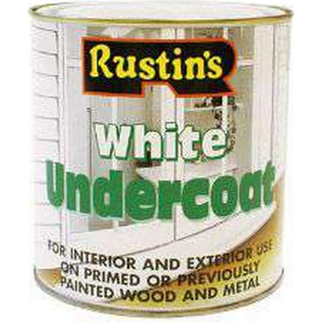 Rustins Undercoat Wood Paint, Metal Paint White 0.5L