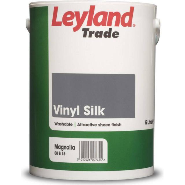 Leyland Trade Vinyl Silk Wall Paint, Ceiling Paint Black 5L