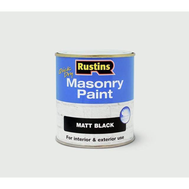 Rustins Quick Dry Masonry Concrete Paint Black 0.5L