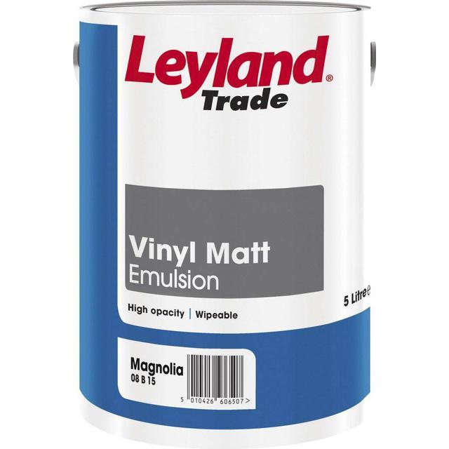 Leyland Trade Vinyl Matt Wall Paint, Ceiling Paint Beige 5L