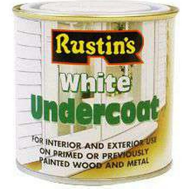 Rustins Undercoat Wood Paint, Metal Paint White 0.25L