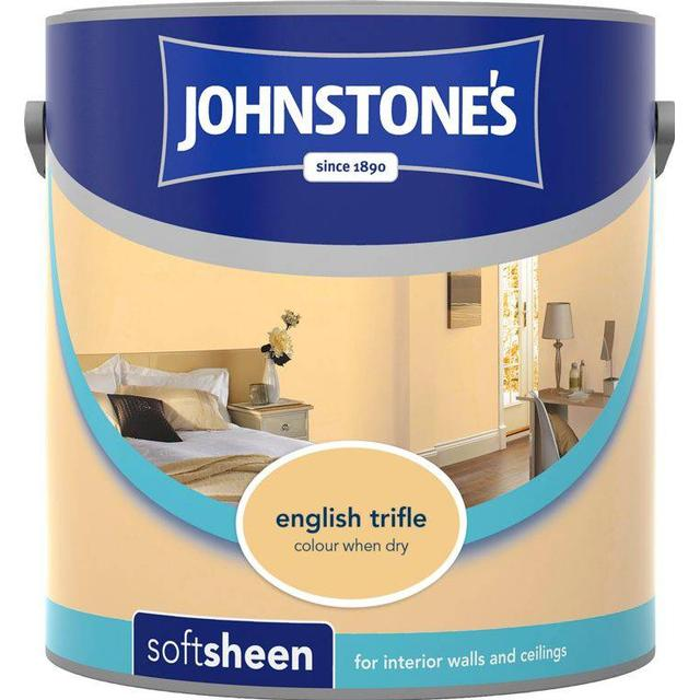 Johnstones Soft Sheen Wall Paint, Ceiling Paint Yellow 2.5L