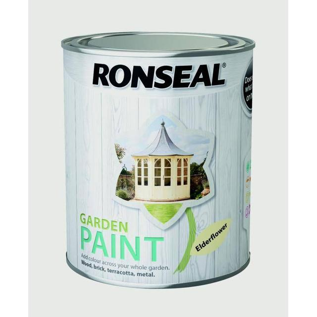 Ronseal Garden Wood Paint Off-white 0.75L