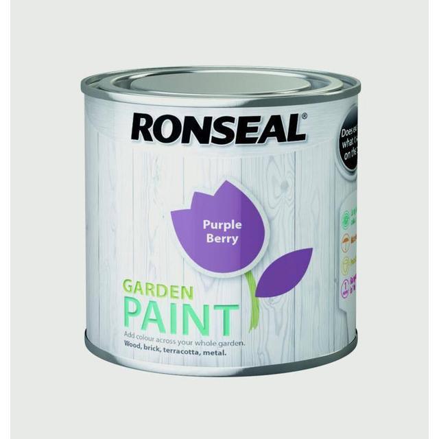 Ronseal Garden Wood Paint Purple 0.25L