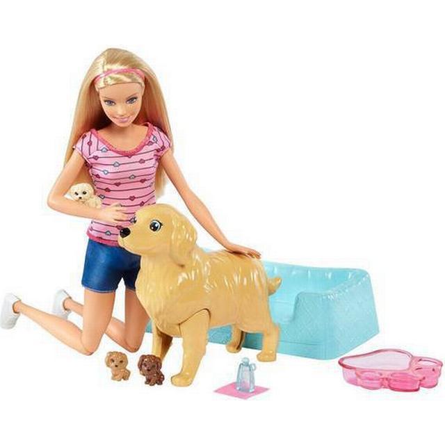 Mattel Barbie Newborn Pups Doll & Pets