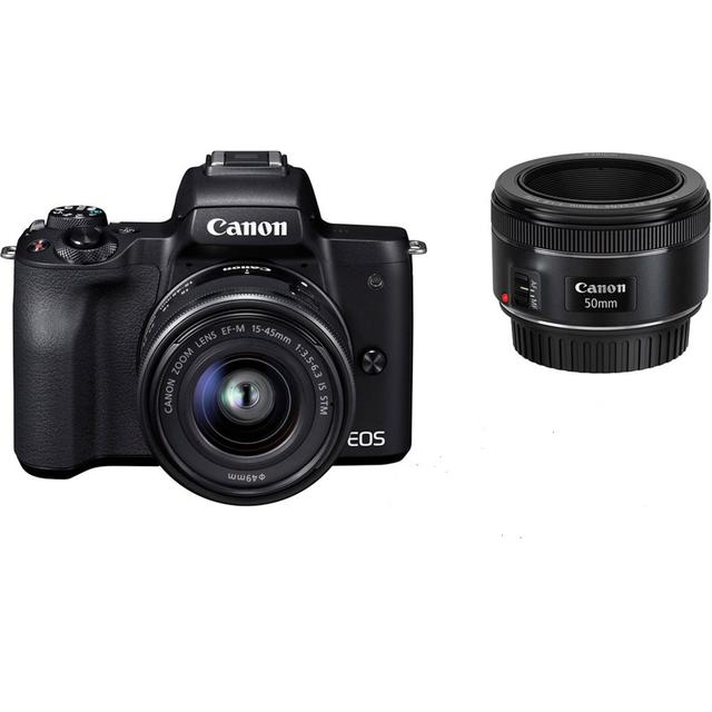 Canon EOS M50 + 15-45mm IS STM + 50mm STM