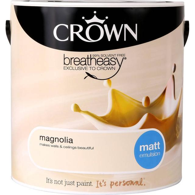 Crown Matt Emulsion Wall Paint, Ceiling Paint Beige 2.5L