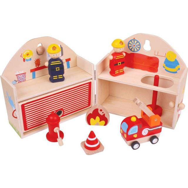 Bigjigs Mini Fire Station Playset
