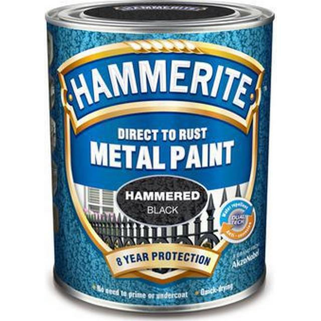 Hammerite Direct to Rust Hammer Metal Paint Black 2.5L