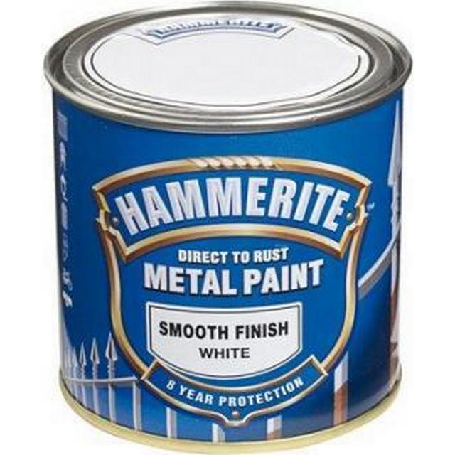 Hammerite Direct to Rust Smooth Effect Metal Paint White 0.25L