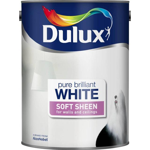 Dulux Soft Sheen Wall Paint, Ceiling Paint White 5L