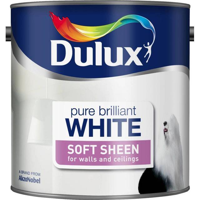 Dulux Soft Sheen Wall Paint, Ceiling Paint White 2.5L