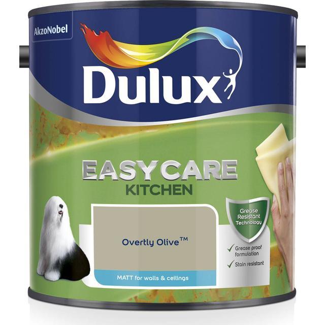 Dulux Easycare Kitchen Matt Wall Paint, Ceiling Paint Green 2.5L