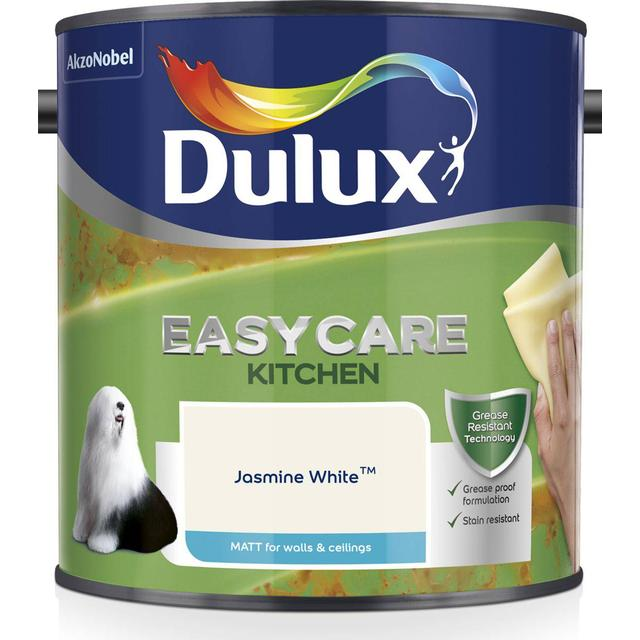 Dulux Easycare Kitchen Matt Wall Paint, Ceiling Paint White 2.5L