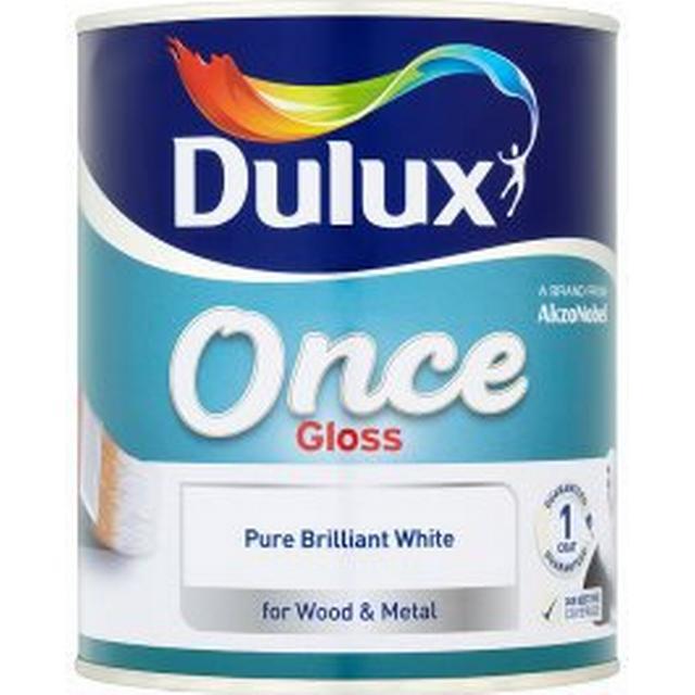 Dulux Once Gloss Wood Paint, Metal Paint White 2.5L