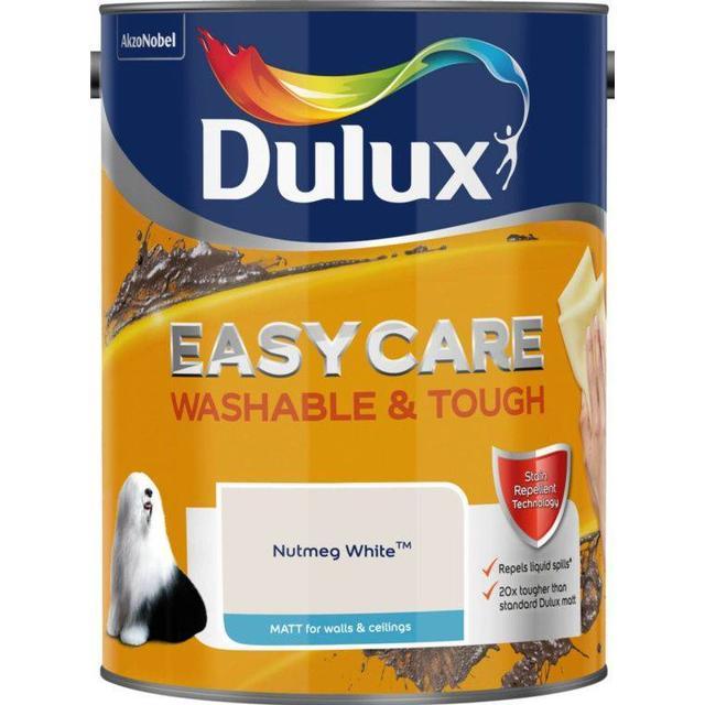 Dulux Easycare Washable & Tough Matt Wall Paint, Ceiling Paint Off-white 5L