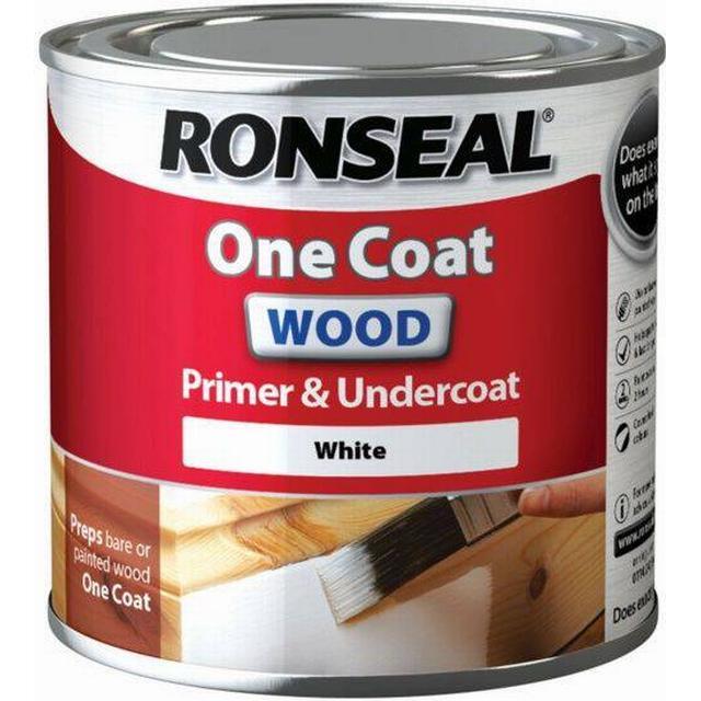 Ronseal One Coat Wood Primer & Undercoat Wood Paint White 0.25L