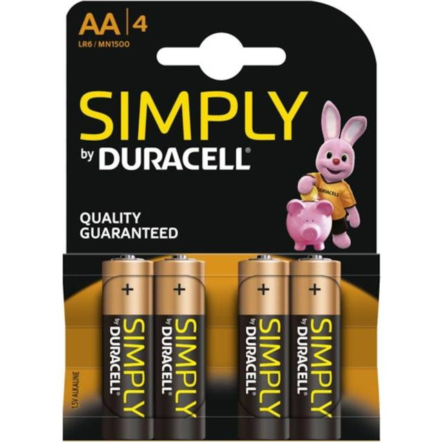 Duracell AA Simply Compatible 4-pack