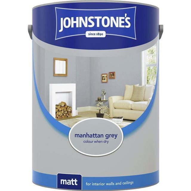 Johnstones Matt Emulsion Wall Paint, Ceiling Paint Grey 5L
