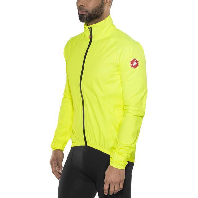 Castelli Emergency Rain Jacket - Yellow Fluo