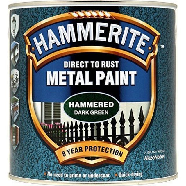 Hammerite Direct to Rust Hammer Metal Paint Green 0.25L