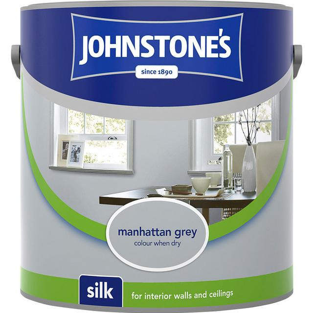Johnstones Silk Wall Paint, Ceiling Paint Grey 5L