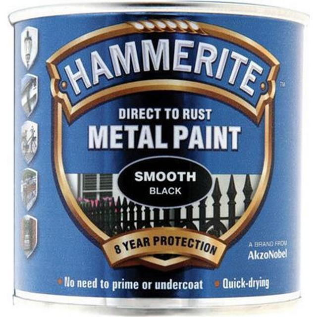 Hammerite Direct to Rust Smooth Effect Metal Paint Yellow 2.5L