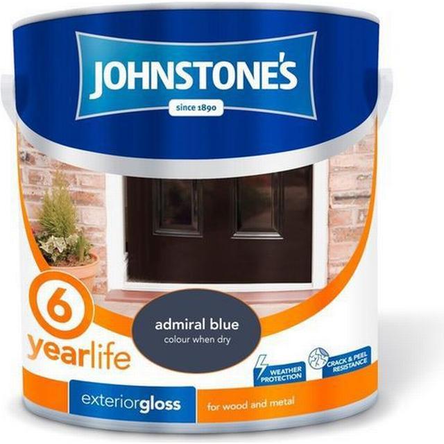 Johnstones Weatherguard 6 Year Exterior Gloss Wood Paint, Metal Paint Blue 2.5L