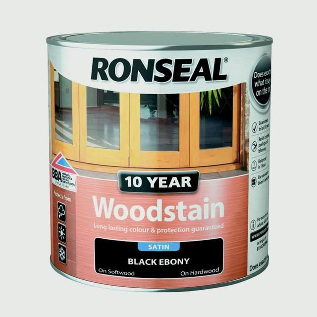 Ronseal 10 Year Woodstain Black 0.75L