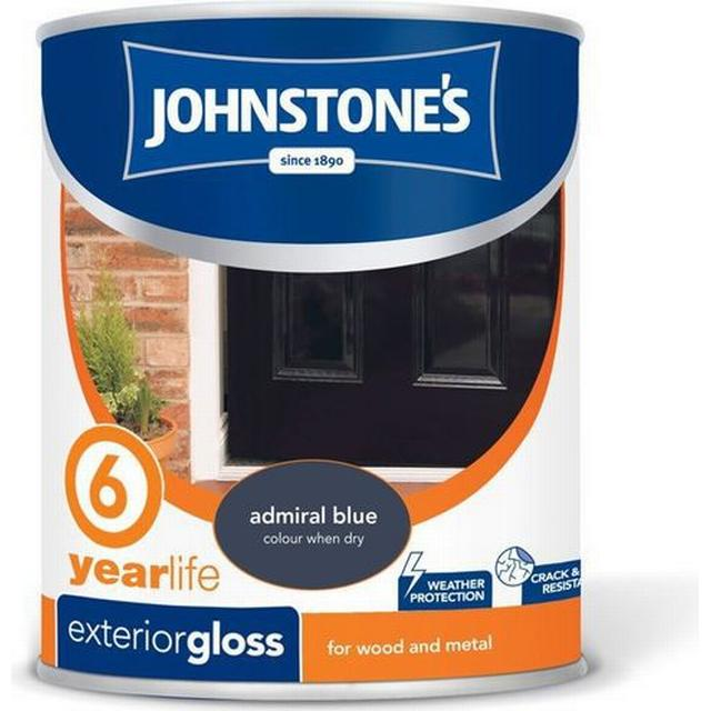 Johnstones Weatherguard 6 Year Exterior Gloss Wood Paint, Metal Paint Blue 0.75L