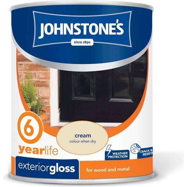 Johnstones Weatherguard 6 Year Exterior Wood Paint, Metal Paint Off-white 0.75L