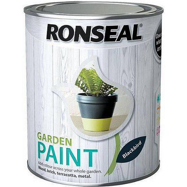 Ronseal Garden Wood Paint Black 0.25L