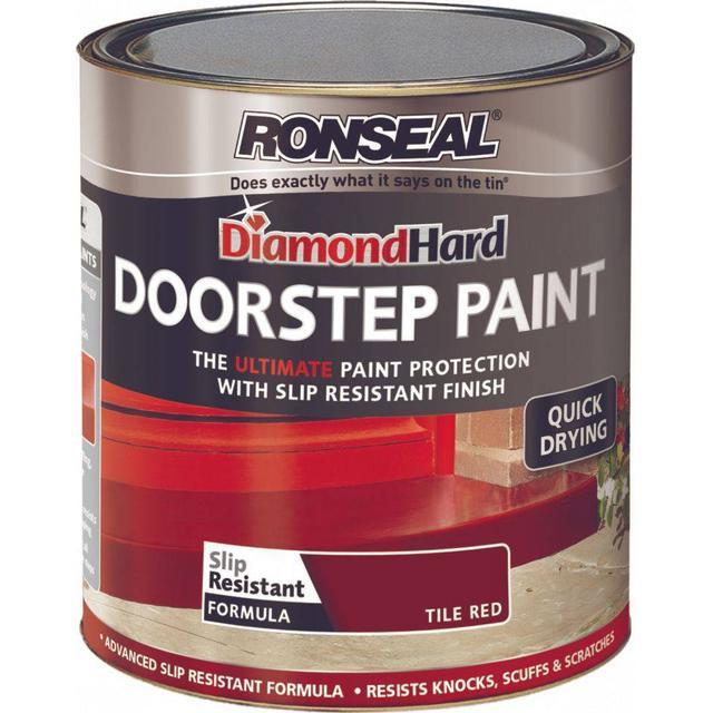 Ronseal Diamond Hard DoorStep Concrete Paint Red 0.75L