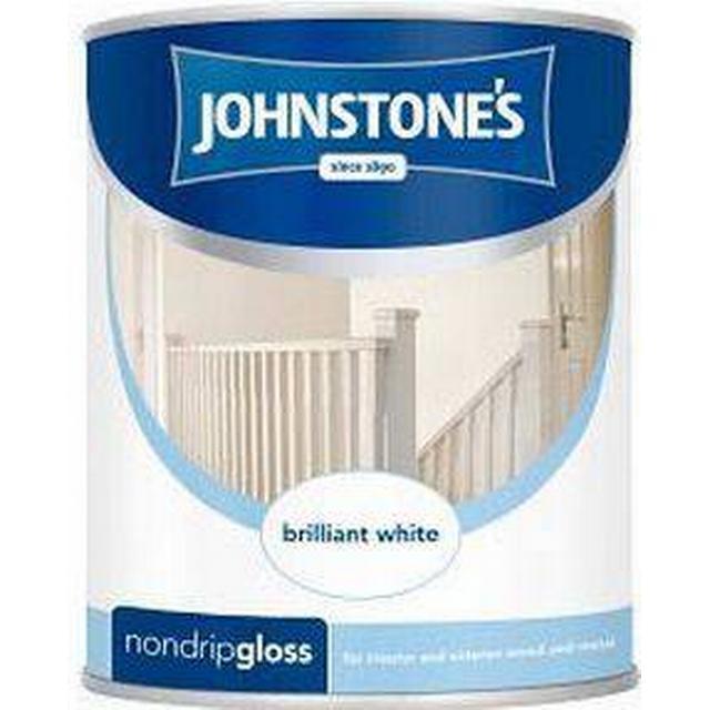 Johnstones Non Drip Gloss Wood Paint, Metal Paint White 0.75L
