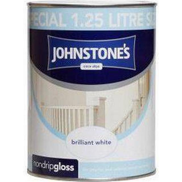 Johnstones Non Drip Gloss Wood Paint, Metal Paint White 1.25L