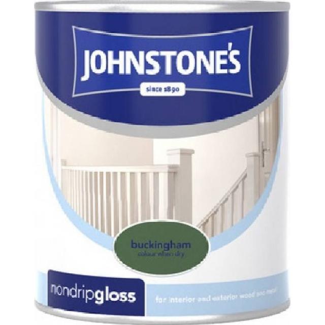 Johnstones Non Drip Gloss Wood Paint, Metal Paint Green 0.25L