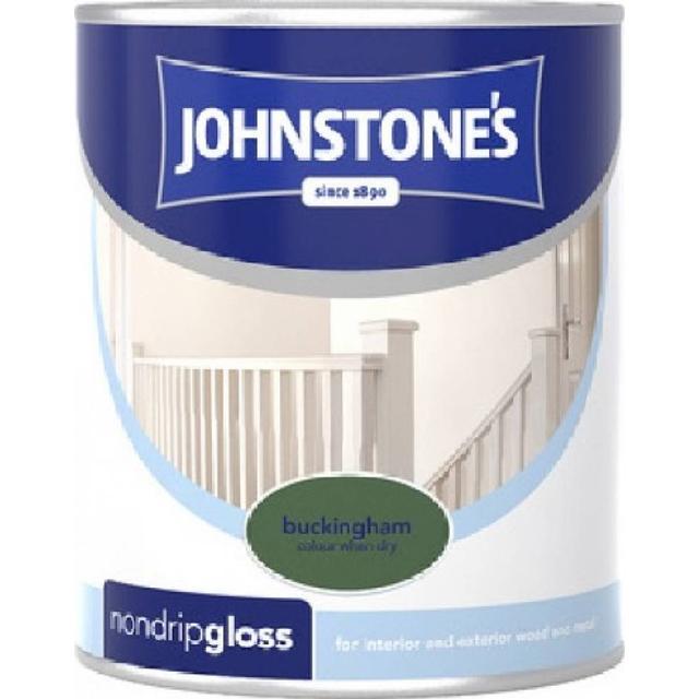 Johnstones Non Drip Gloss Wood Paint, Metal Paint Green 0.75L