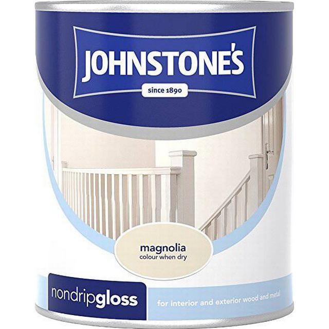 Johnstones Non Drip Gloss Wood Paint, Metal Paint Beige 0.25L