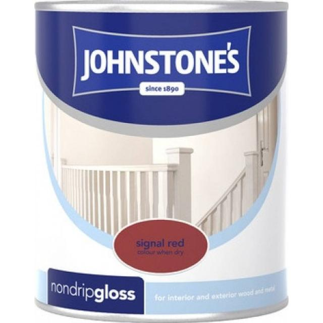 Johnstones Non Drip Gloss Wood Paint, Metal Paint Red 0.25L
