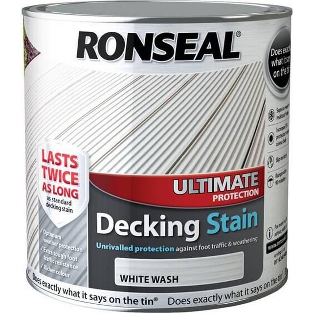 Ronseal Ultimate Protection Decking Woodstain White 2.5L