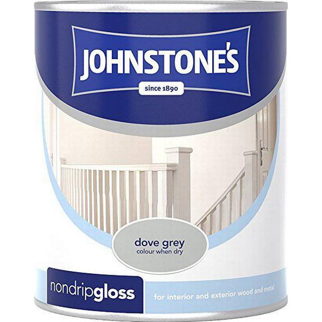 Johnstones Non Drip Gloss Wood Paint, Metal Paint Grey 0.25L