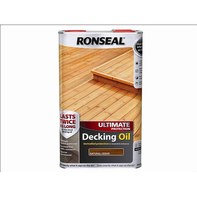 Ronseal Ultimate Protection Decking Oil Brown 5L