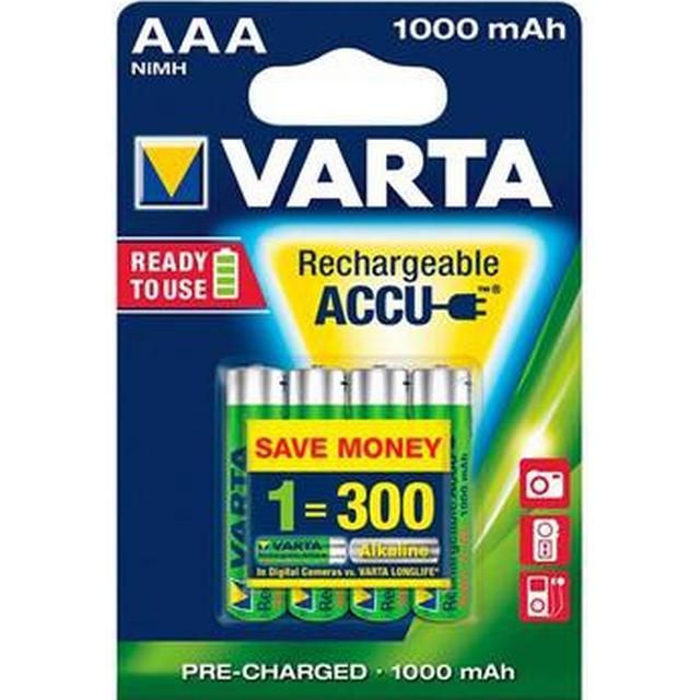 Varta AAA Accu Rechargeable 1000mAh 4-pack